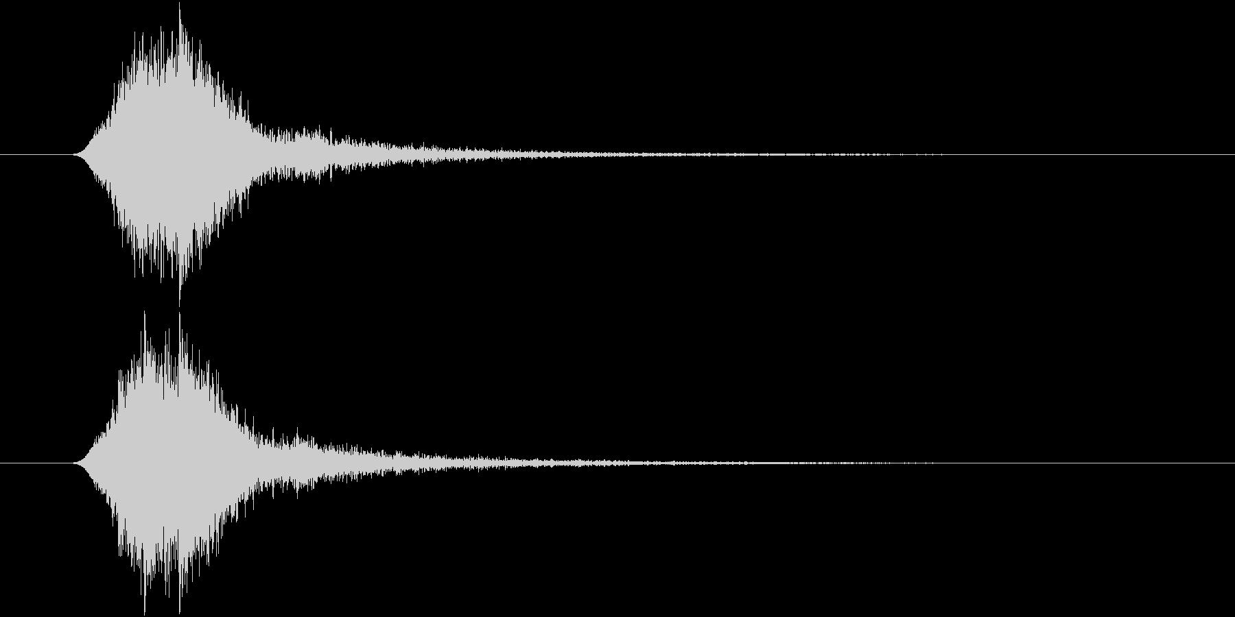 ヒュイン スピーディー 素早く過ぎ去る音の未再生の波形