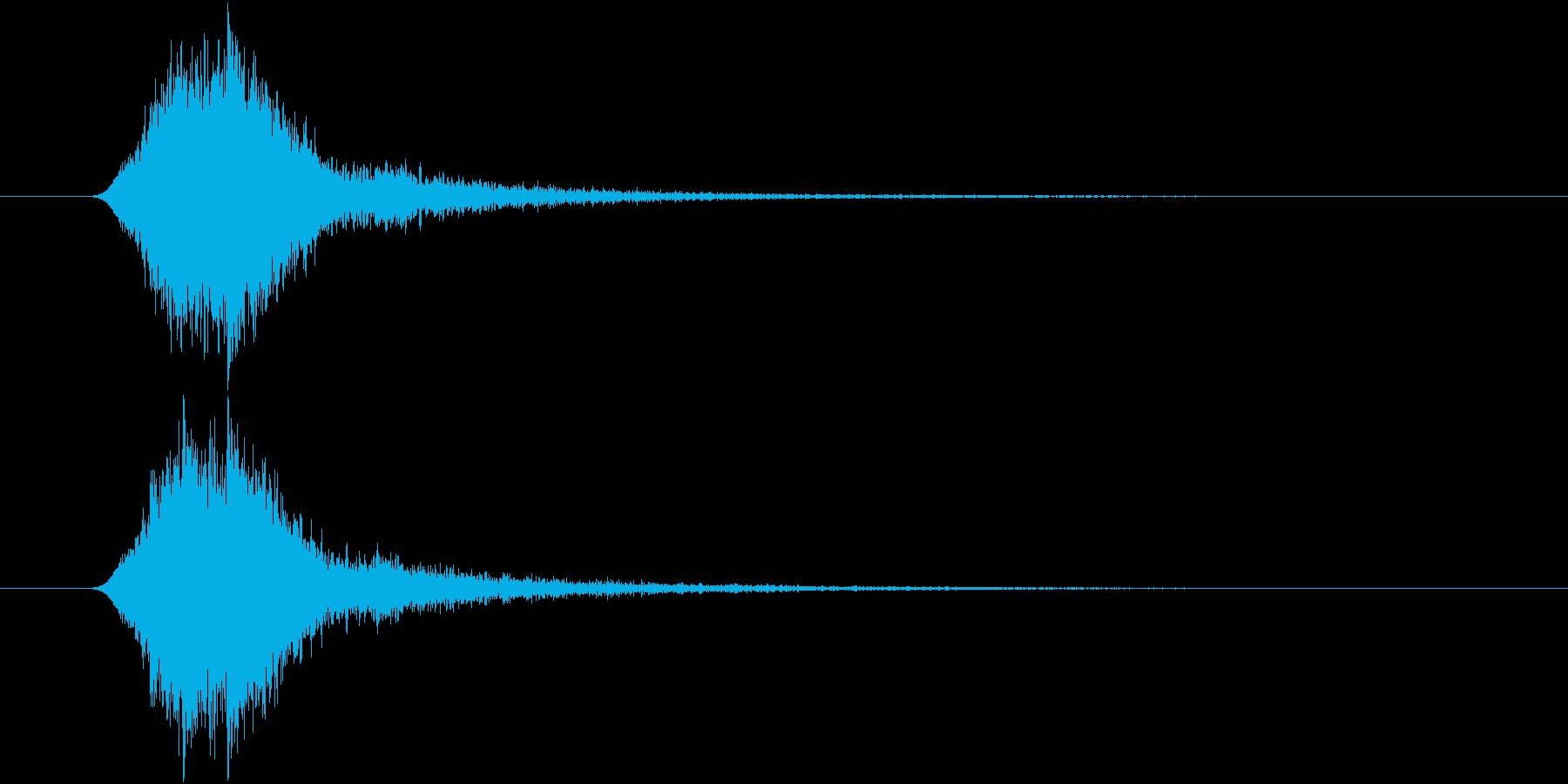 ヒュイン スピーディー 素早く過ぎ去る音の再生済みの波形