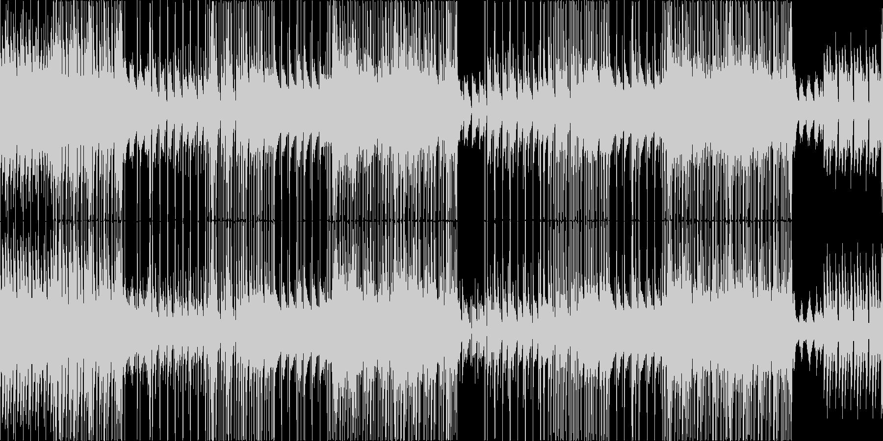 ピアノメインのポジティブで明るいポップスの未再生の波形