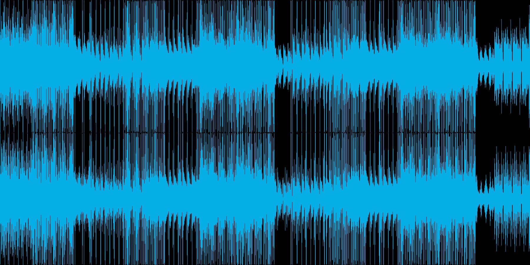 ピアノメインのポジティブで明るいポップスの再生済みの波形