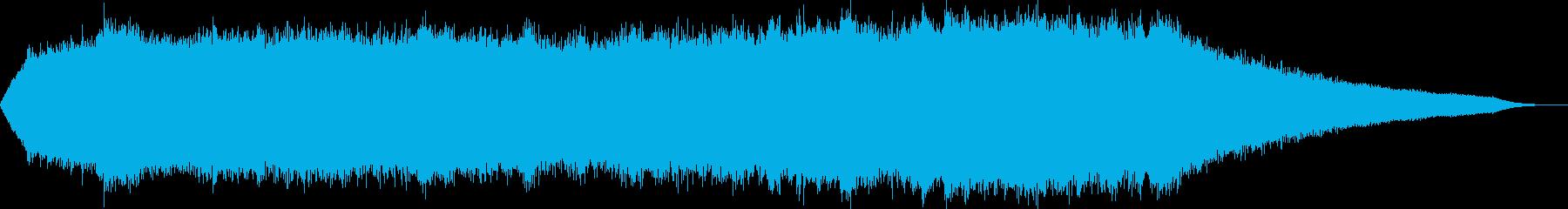 混沌としたヒーリングドローンの再生済みの波形
