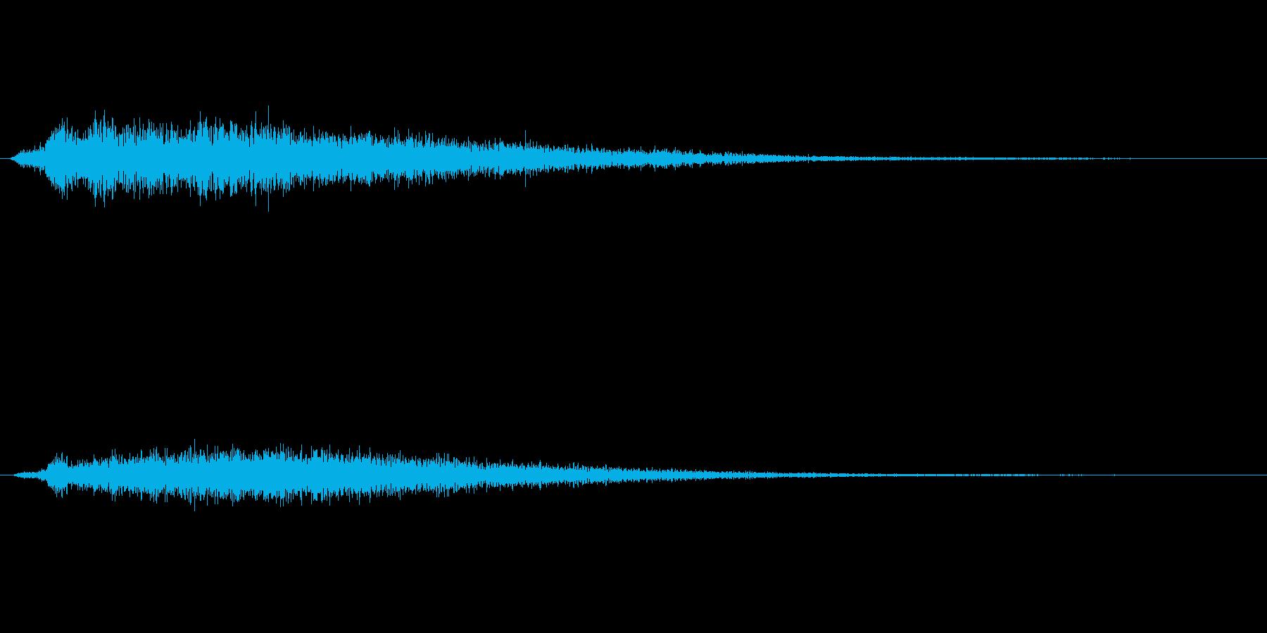 木製の宝箱を開けた音の再生済みの波形