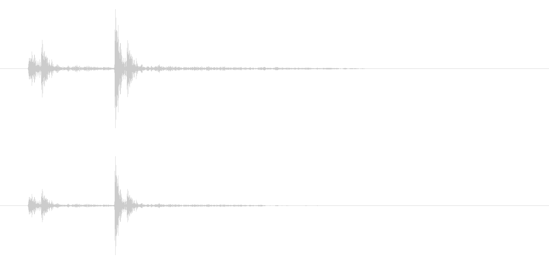 勢いがありクリアな効果音の未再生の波形