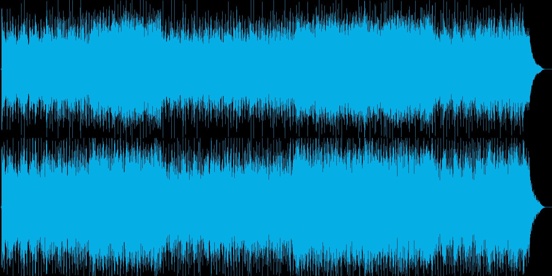 疾走感のあるクールでエキゾチックな楽曲の再生済みの波形
