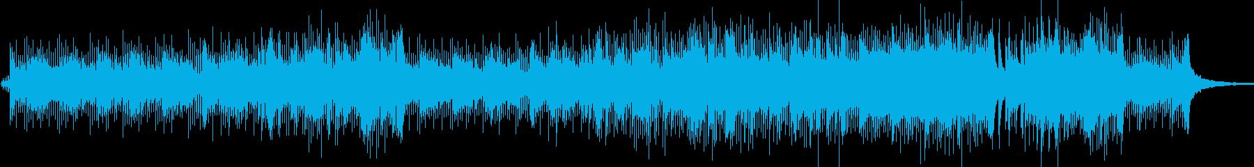 ピアノの軽快なインスト曲の再生済みの波形