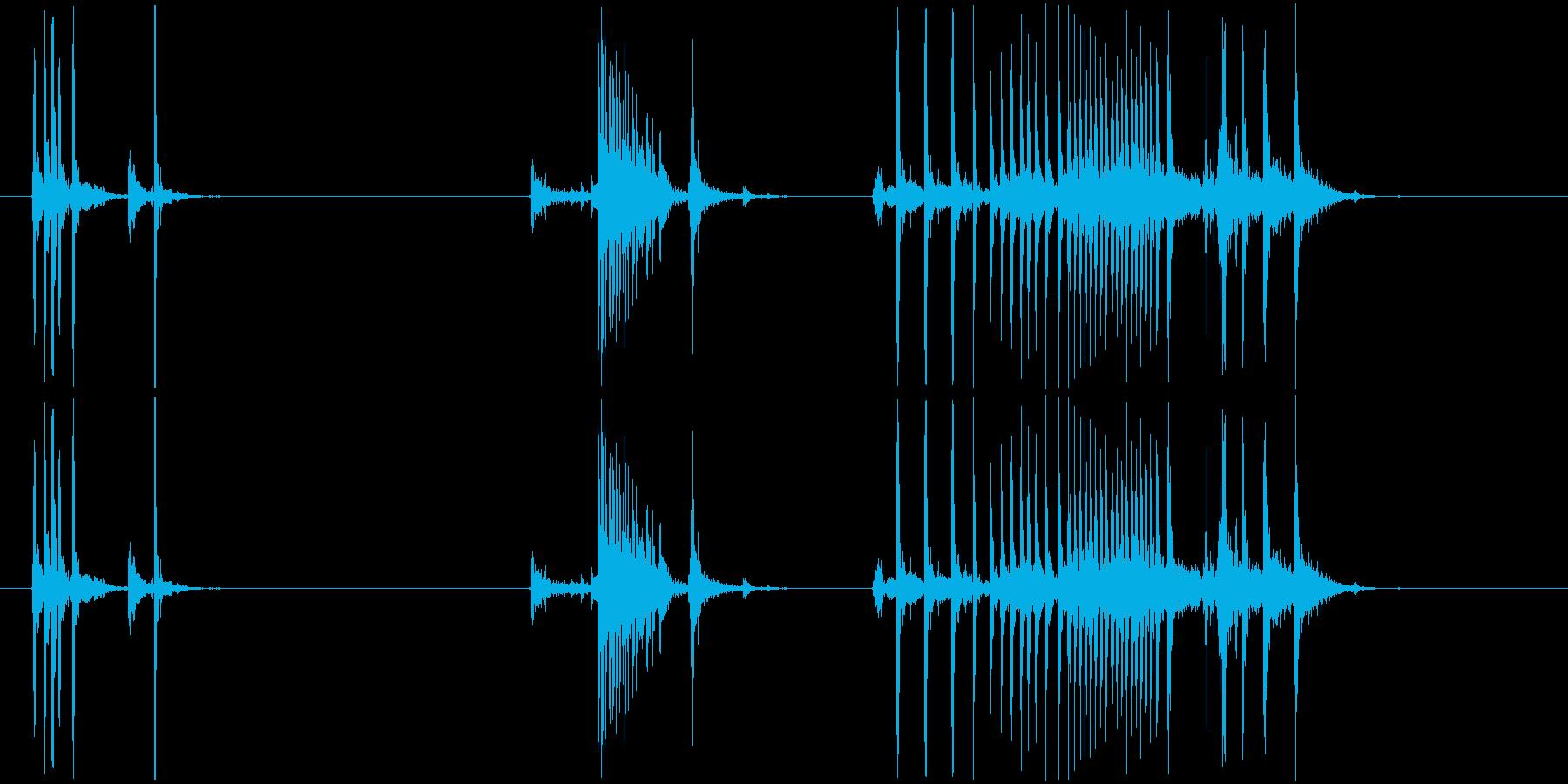 ぎしぎし(きしむ音)の再生済みの波形