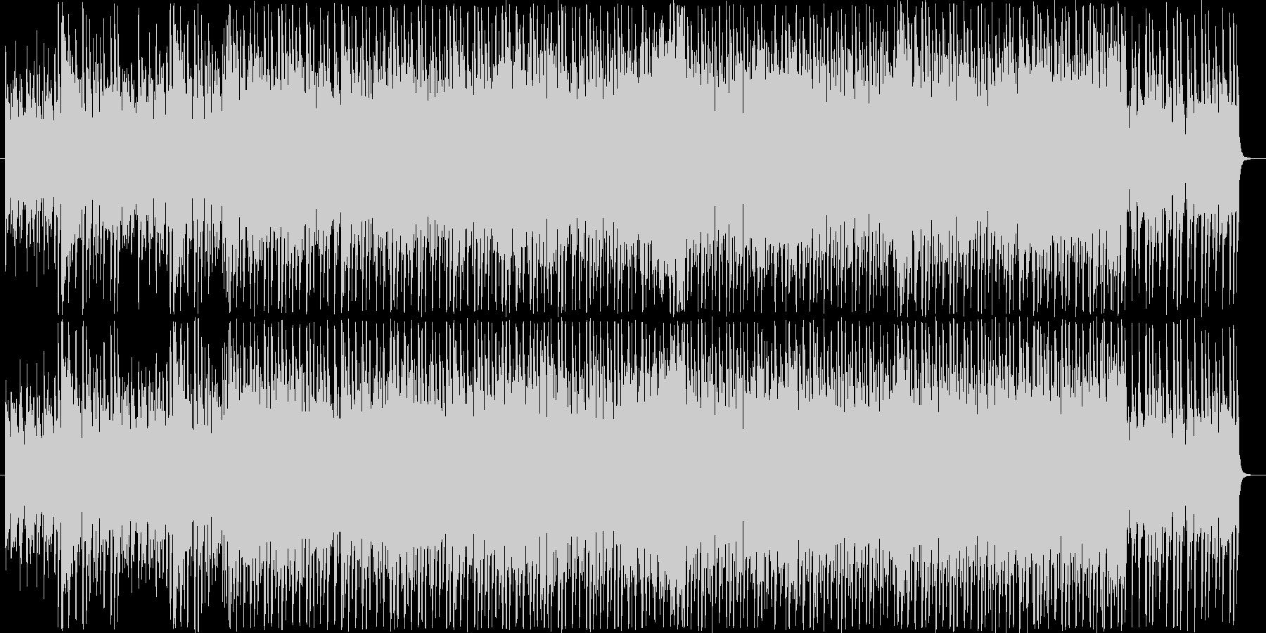 金属的なフニャフニャ音のダンス曲の未再生の波形