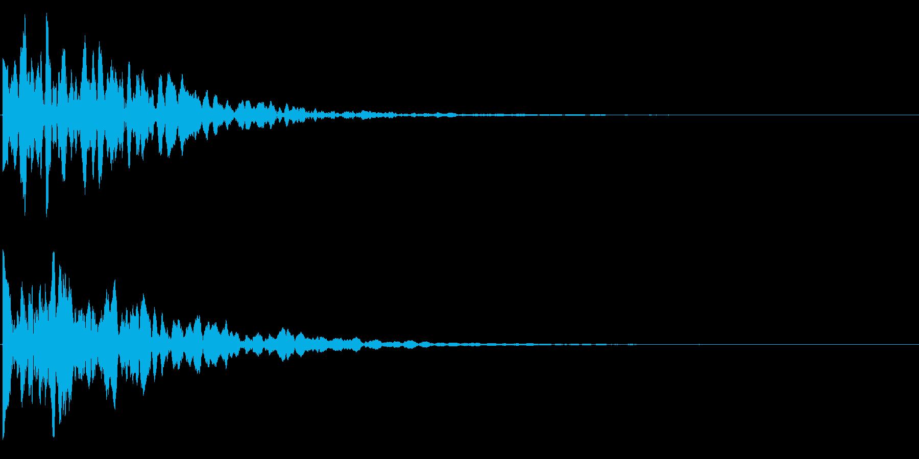 ゲームスタート、決定、ボタン音-136の再生済みの波形