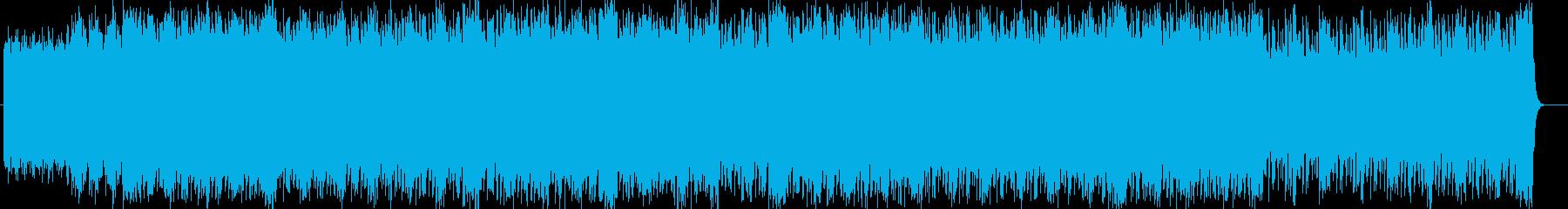 スピード感のあるシンセサイザーサウンドの再生済みの波形