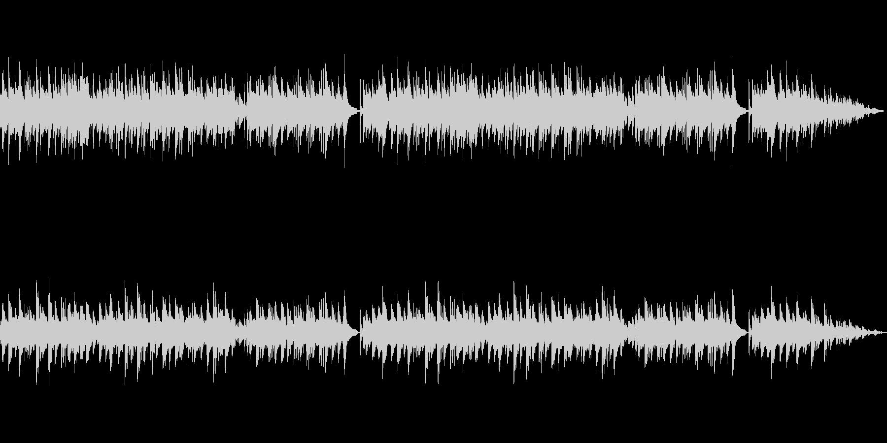 退廃的なピアノ曲の未再生の波形