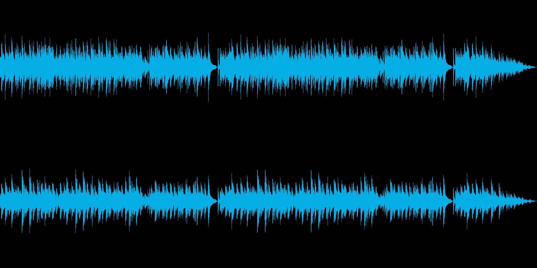 退廃的なピアノ曲の再生済みの波形