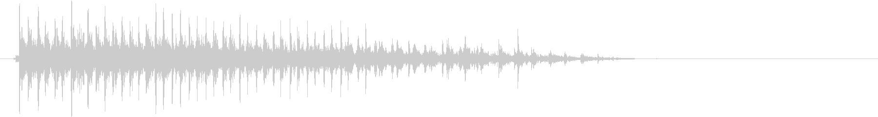 カーッ(ビブラスラップ、与作)の未再生の波形