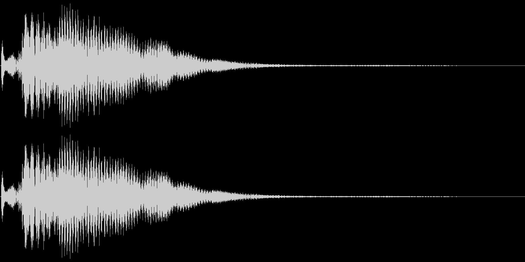 ポローン(アイテム獲得音)の未再生の波形