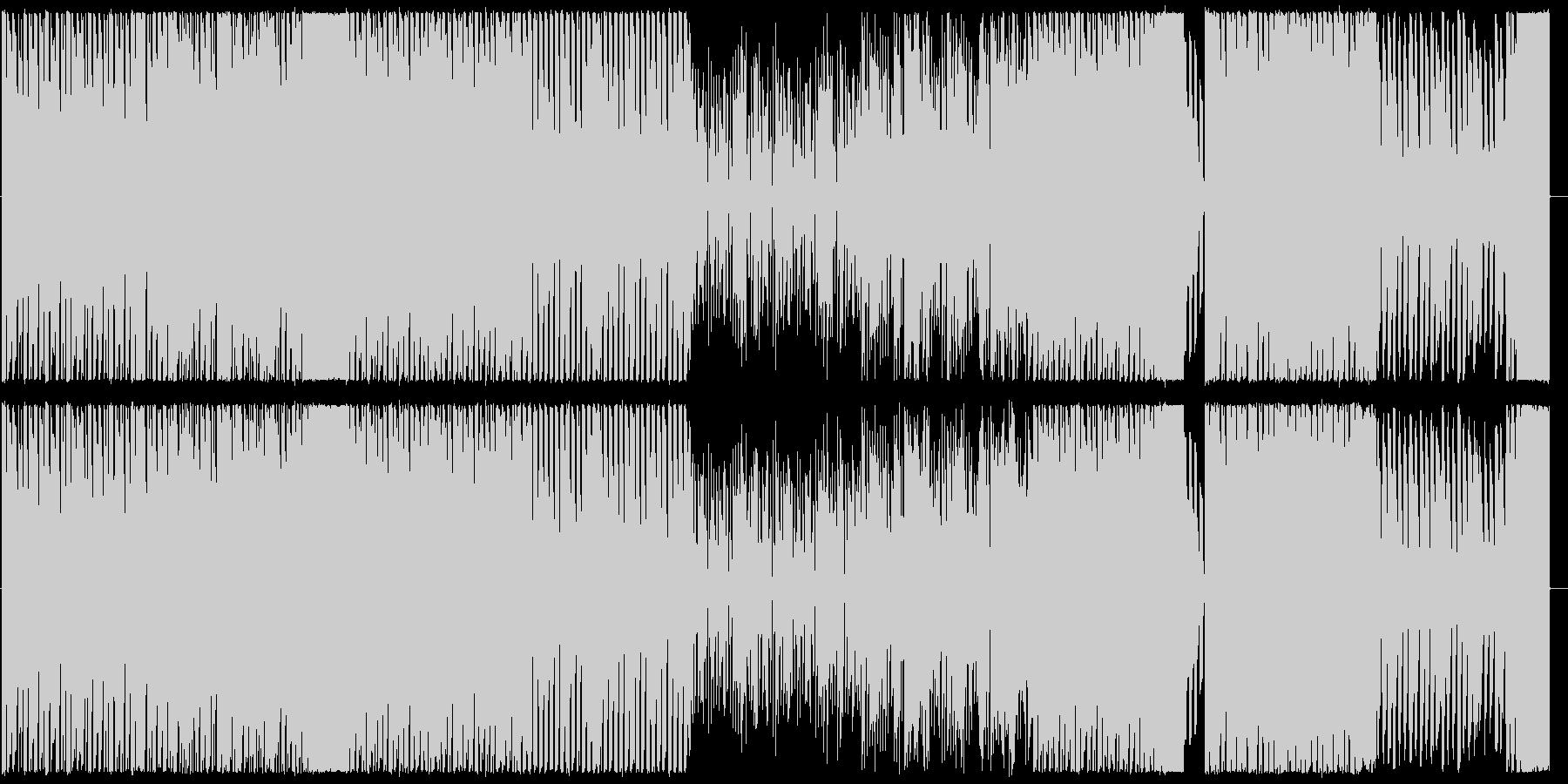 ハイテンポで楽しいイメージのBGMの未再生の波形