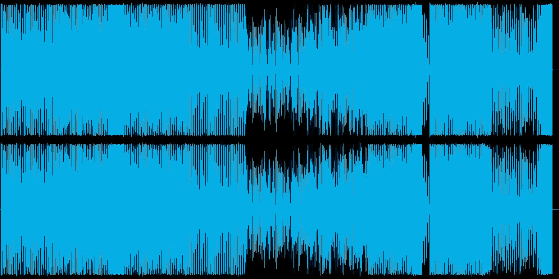 ハイテンポで楽しいイメージのBGMの再生済みの波形