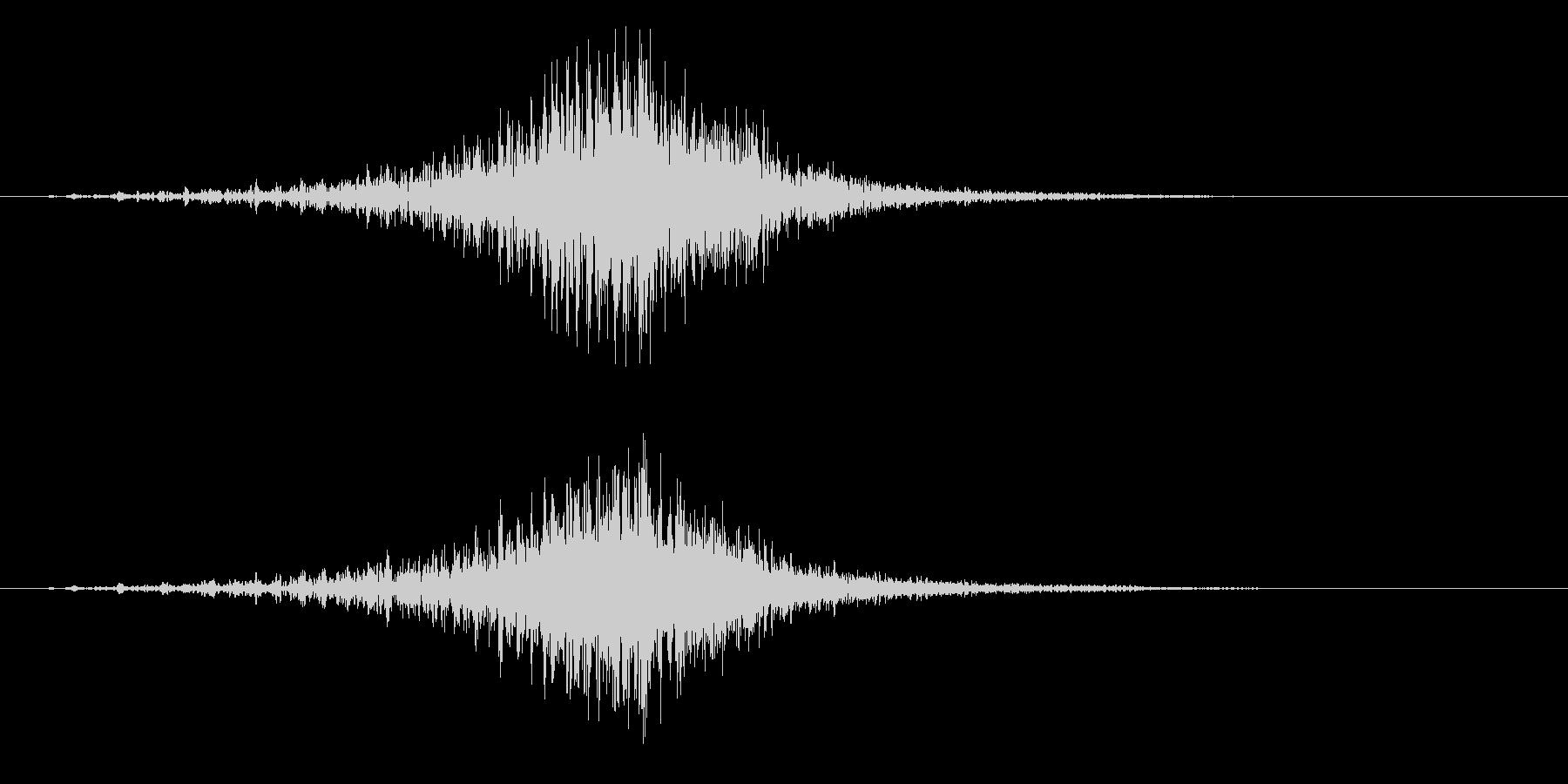 ・・・ドドドドドドン!(発表、太鼓系)の未再生の波形