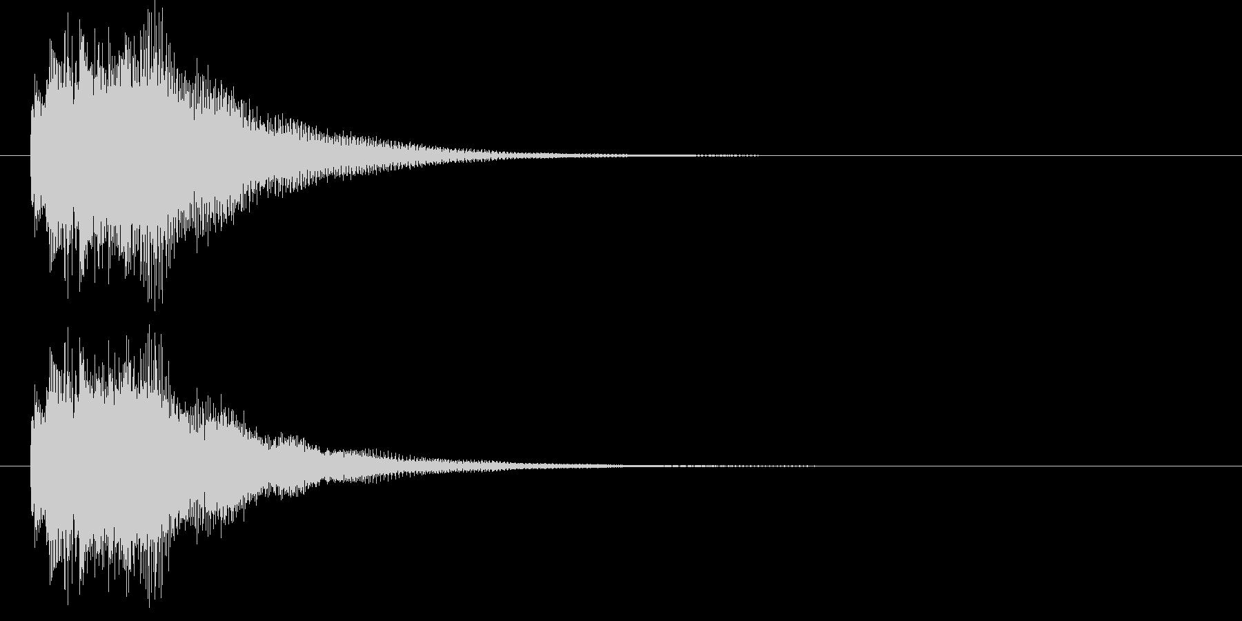 リッチなハープシコード音、正解時SEの未再生の波形