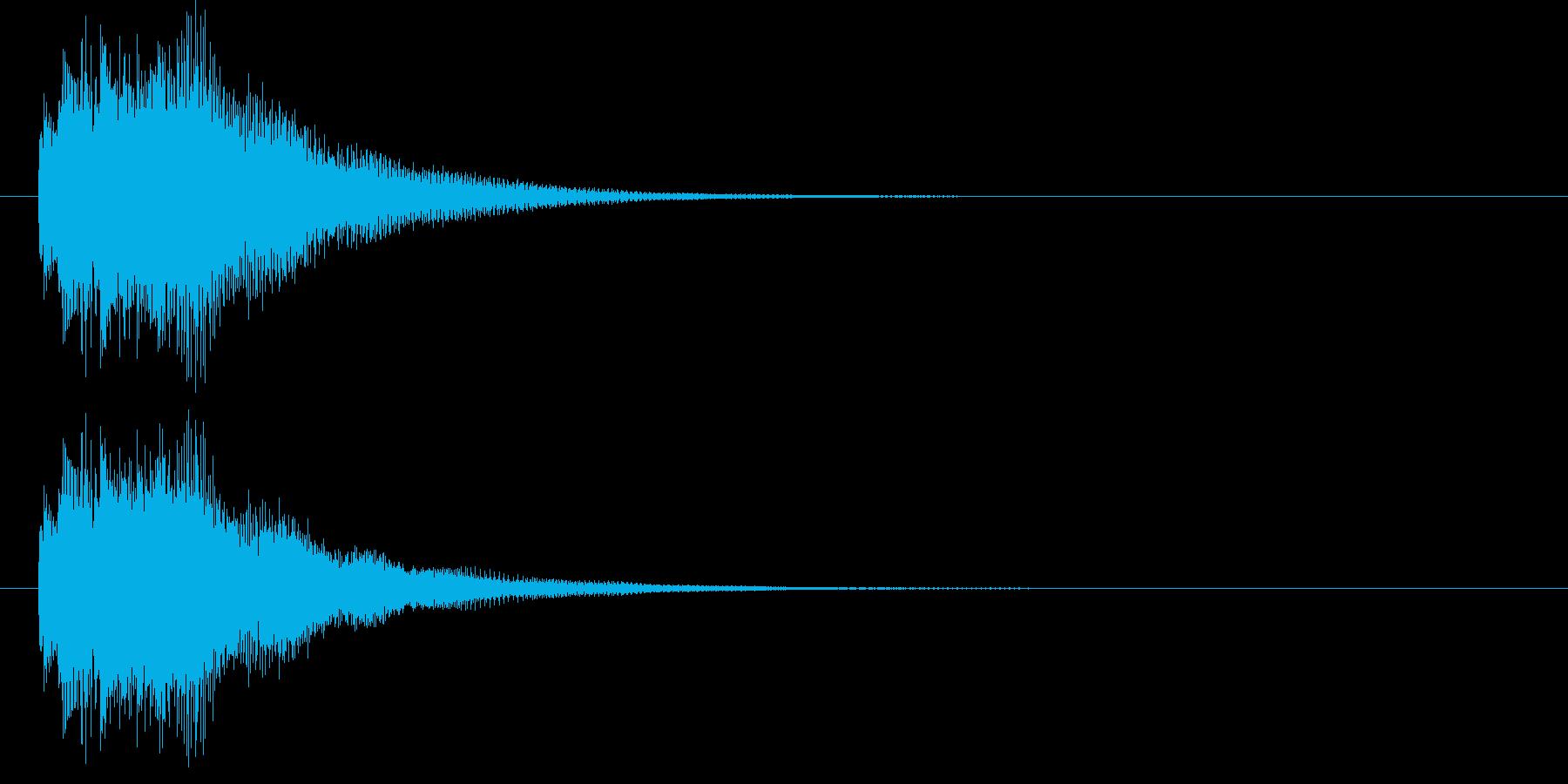 リッチなハープシコード音、正解時SEの再生済みの波形