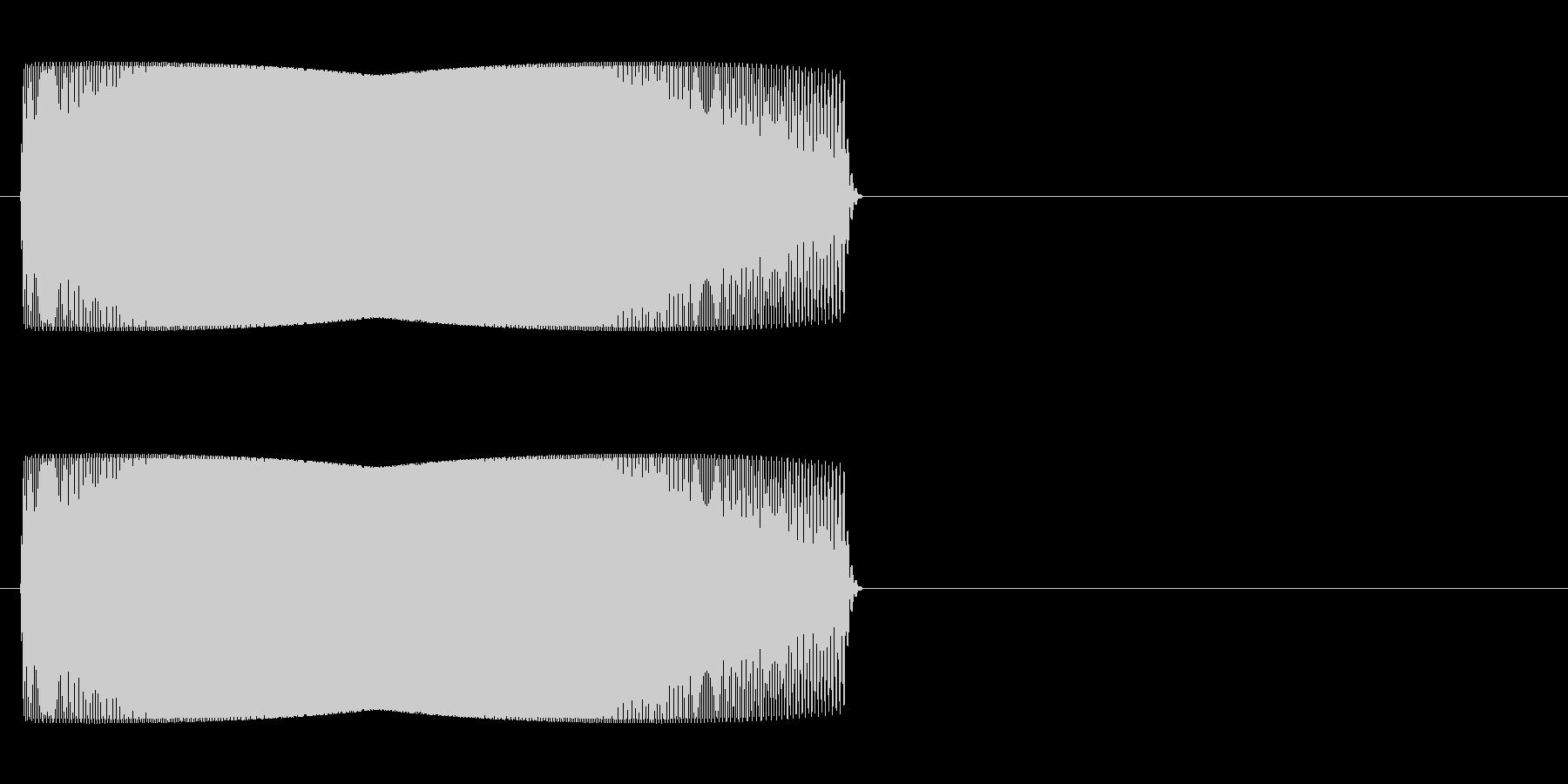 ジャンプ音 「ぴゅいーん」の未再生の波形