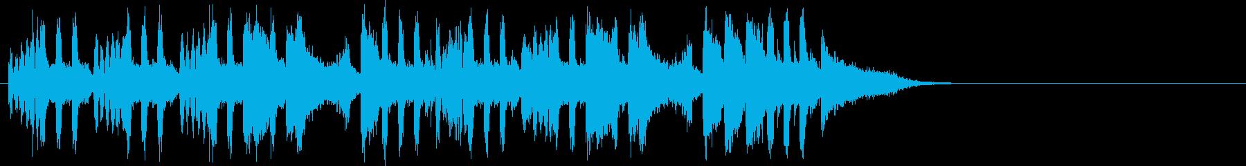 ゆったりしたエンディング(イントロ)の再生済みの波形