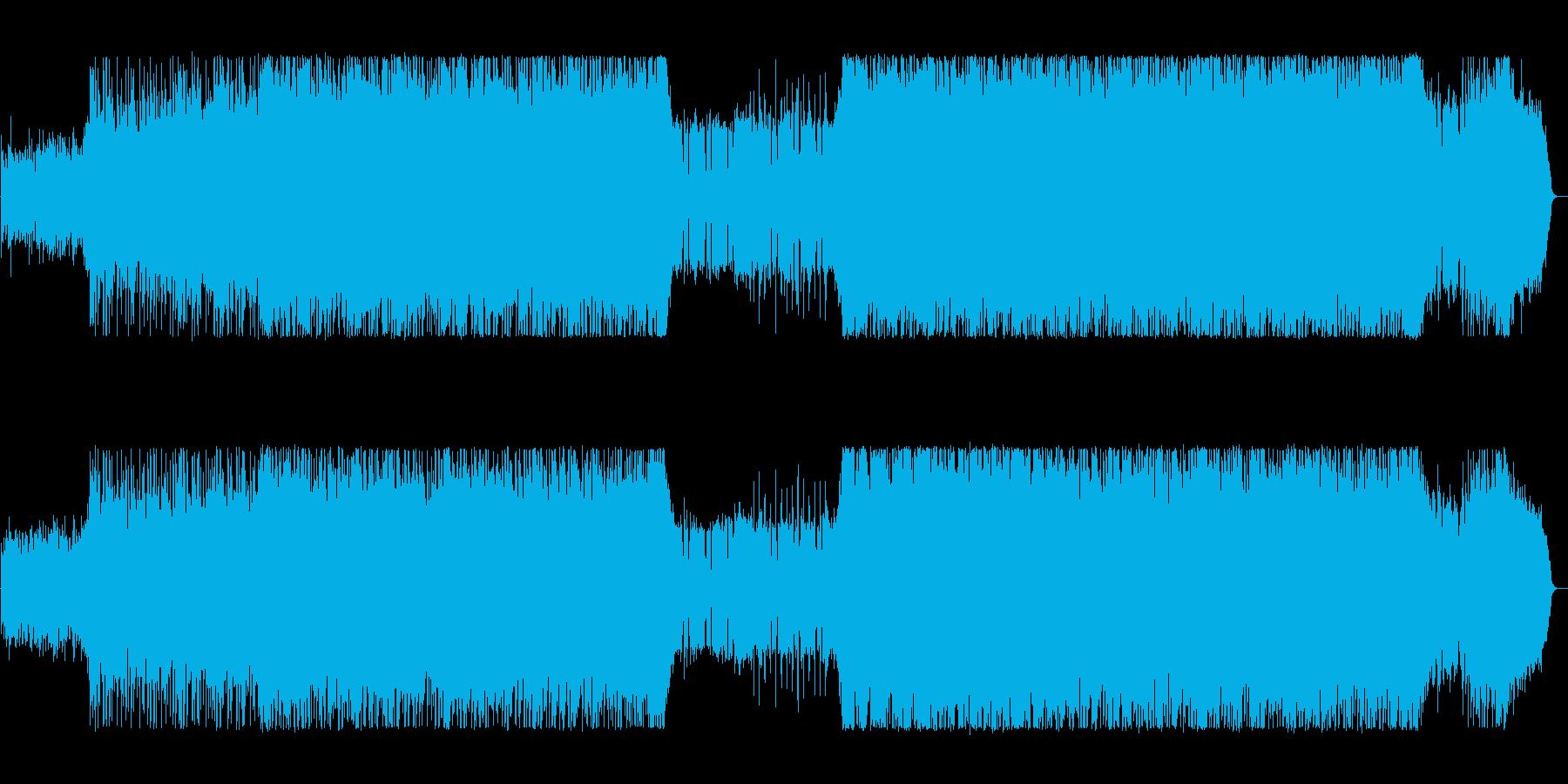 スピード感あふれるハードパンクの再生済みの波形