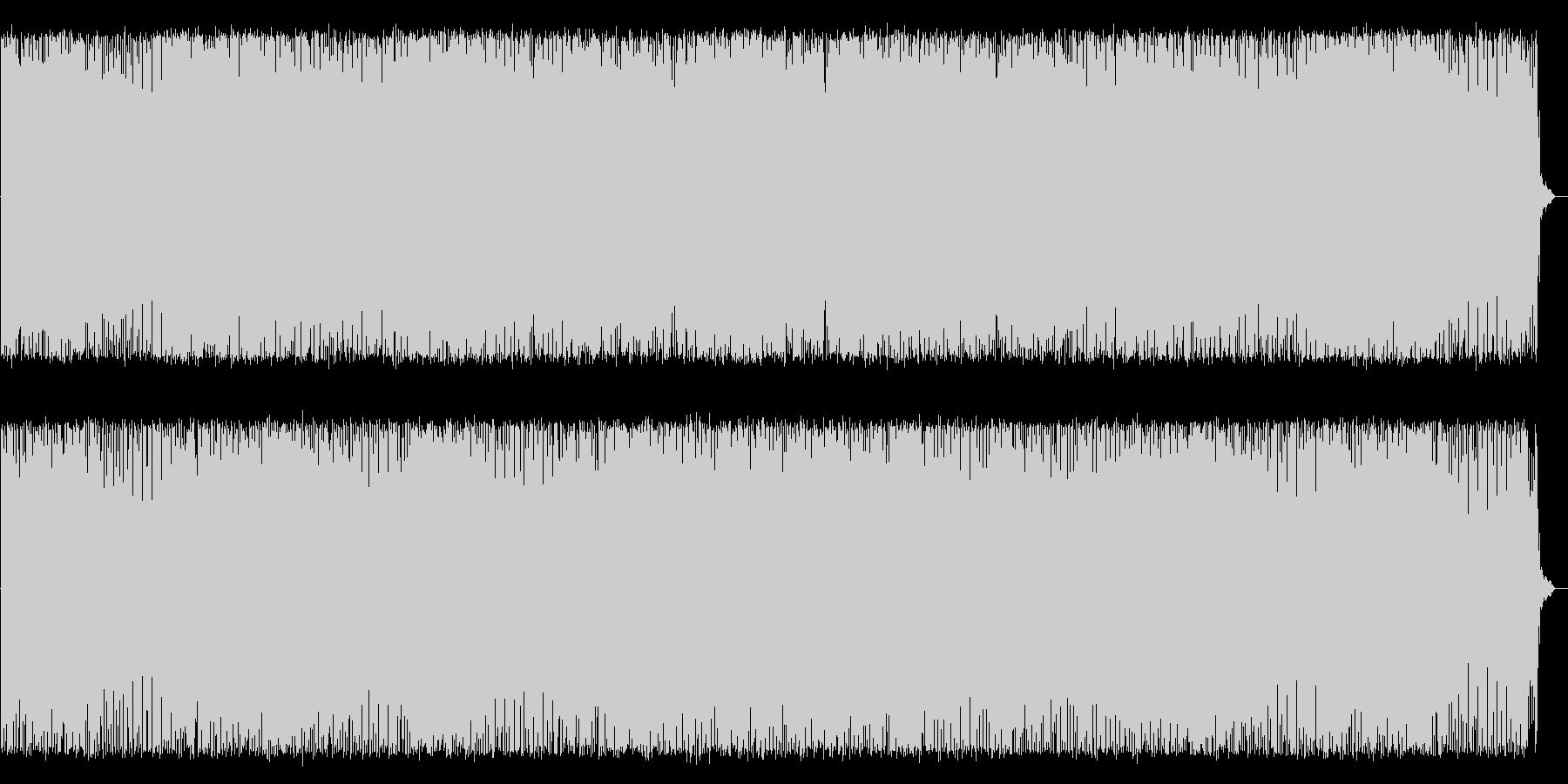 クールで近未来感のあるインスト曲の未再生の波形