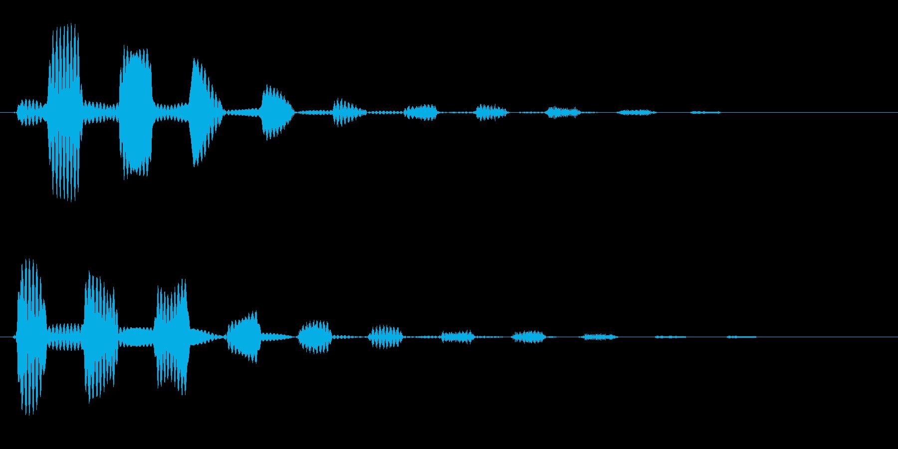 クリック音(シンプル)の再生済みの波形