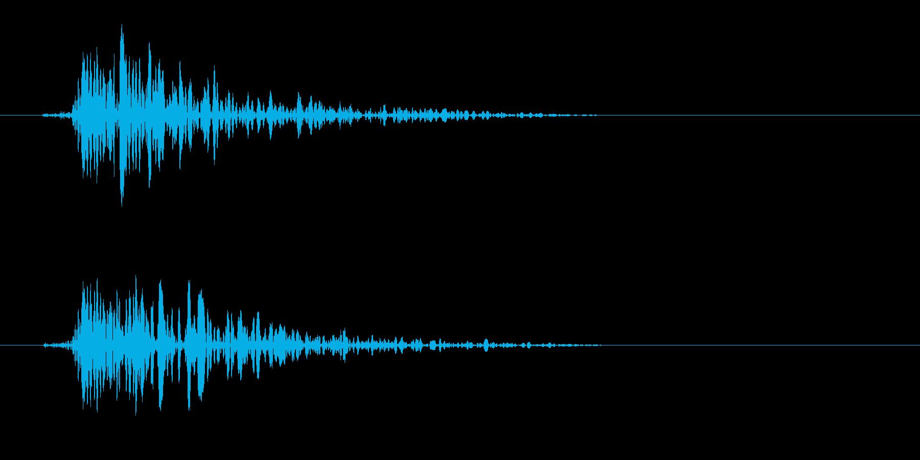 ドンッ!(ドアを1回叩く音)の再生済みの波形