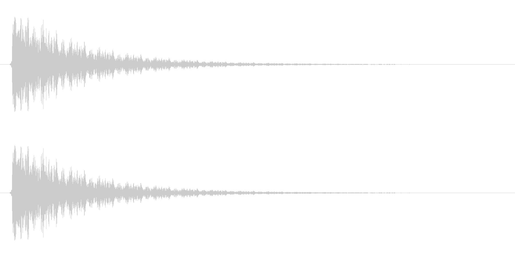 【衝撃05-3】の未再生の波形