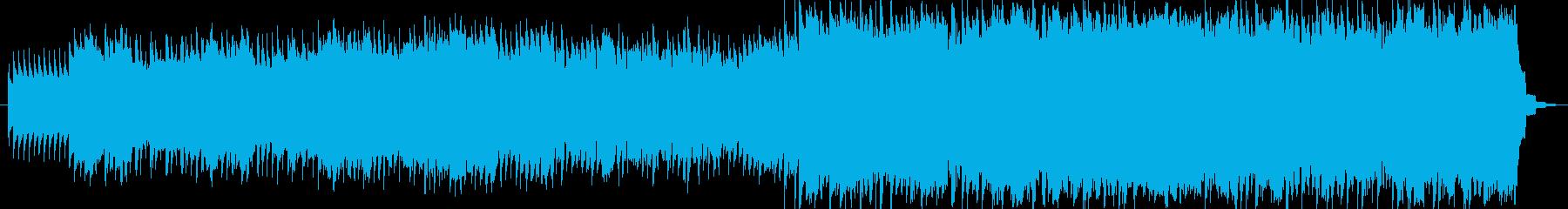 ほのぼのとした懐かしさのあるインストの再生済みの波形