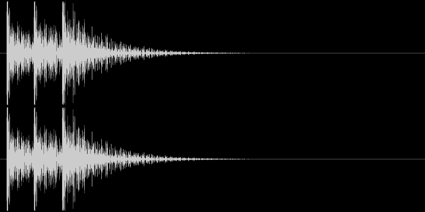 コンコンコン! (扉をノック・3回)-Bの未再生の波形