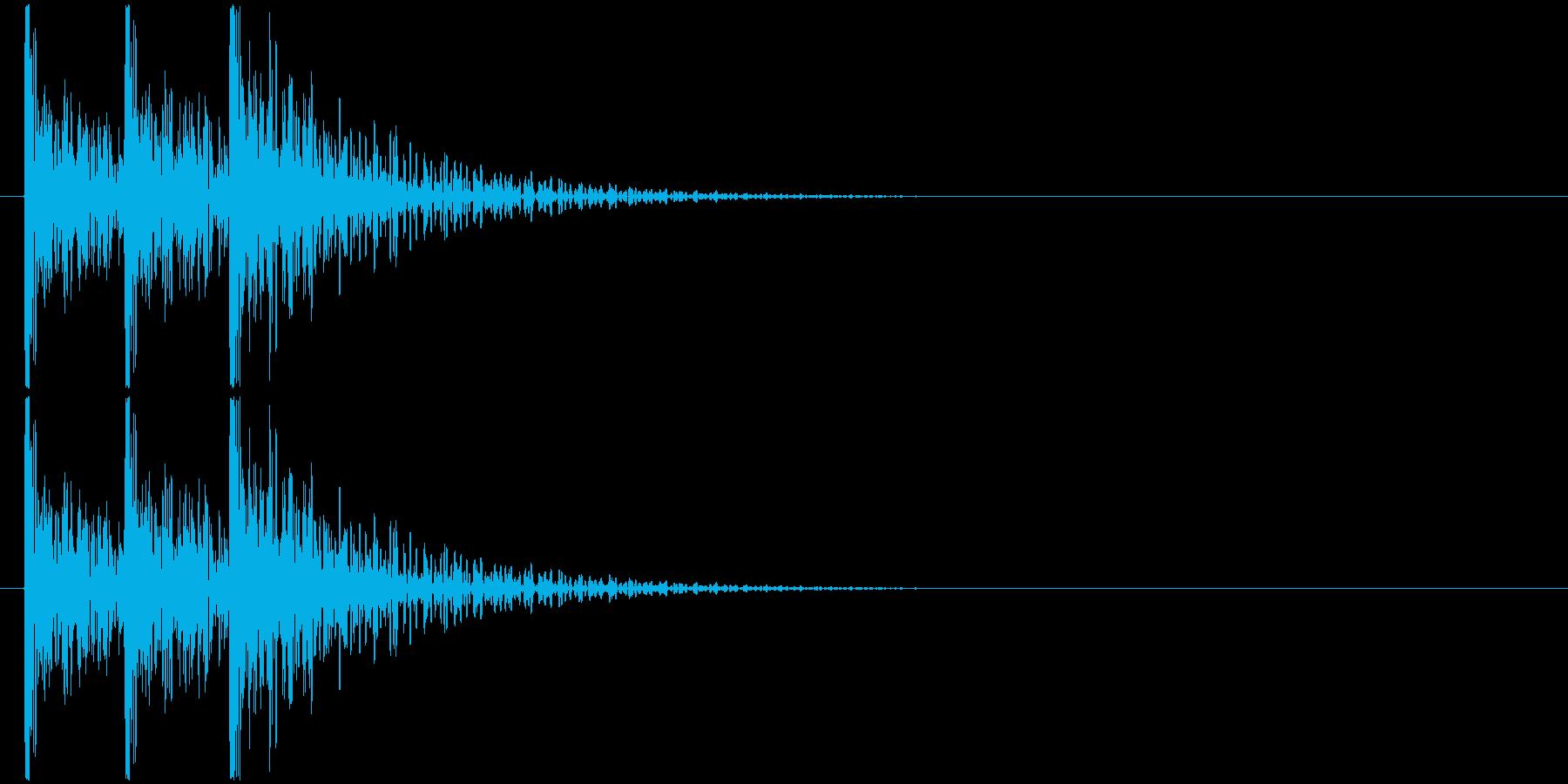 コンコンコン! (扉をノック・3回)-Bの再生済みの波形
