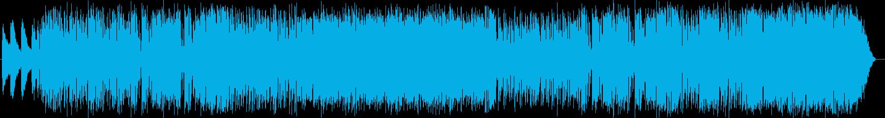 爽やかで緩やかなエレキサウンドの再生済みの波形