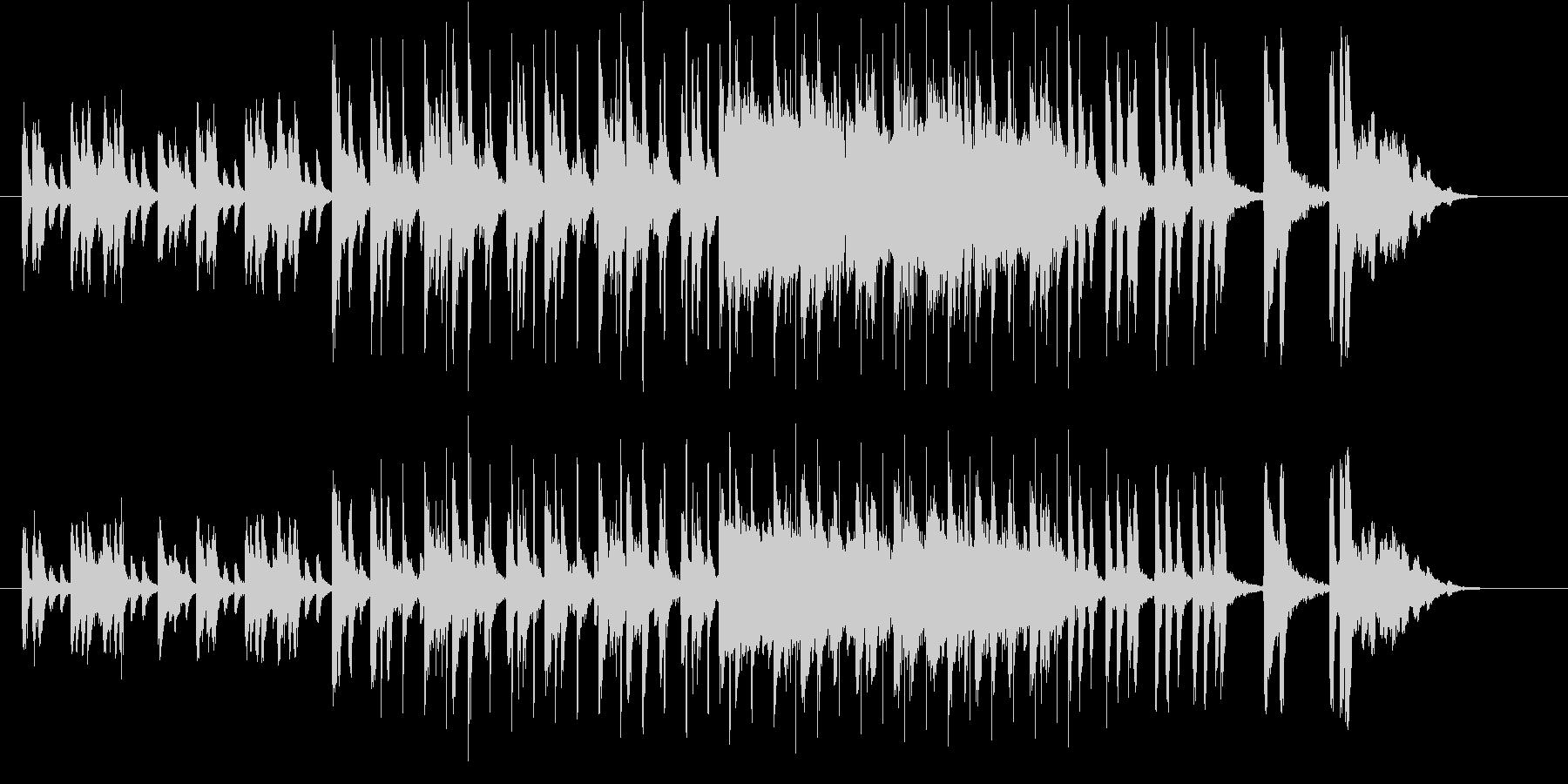 躍動感が溢れるジングル曲、サウンドロゴの未再生の波形