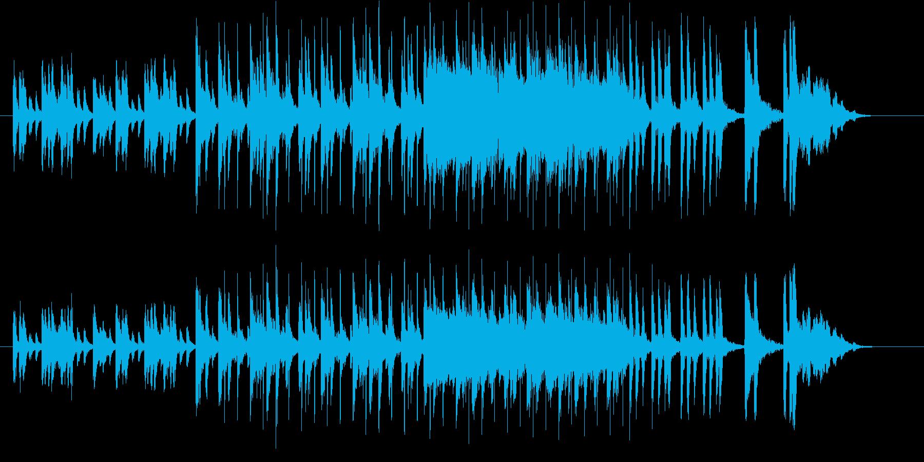 躍動感が溢れるジングル曲、サウンドロゴの再生済みの波形