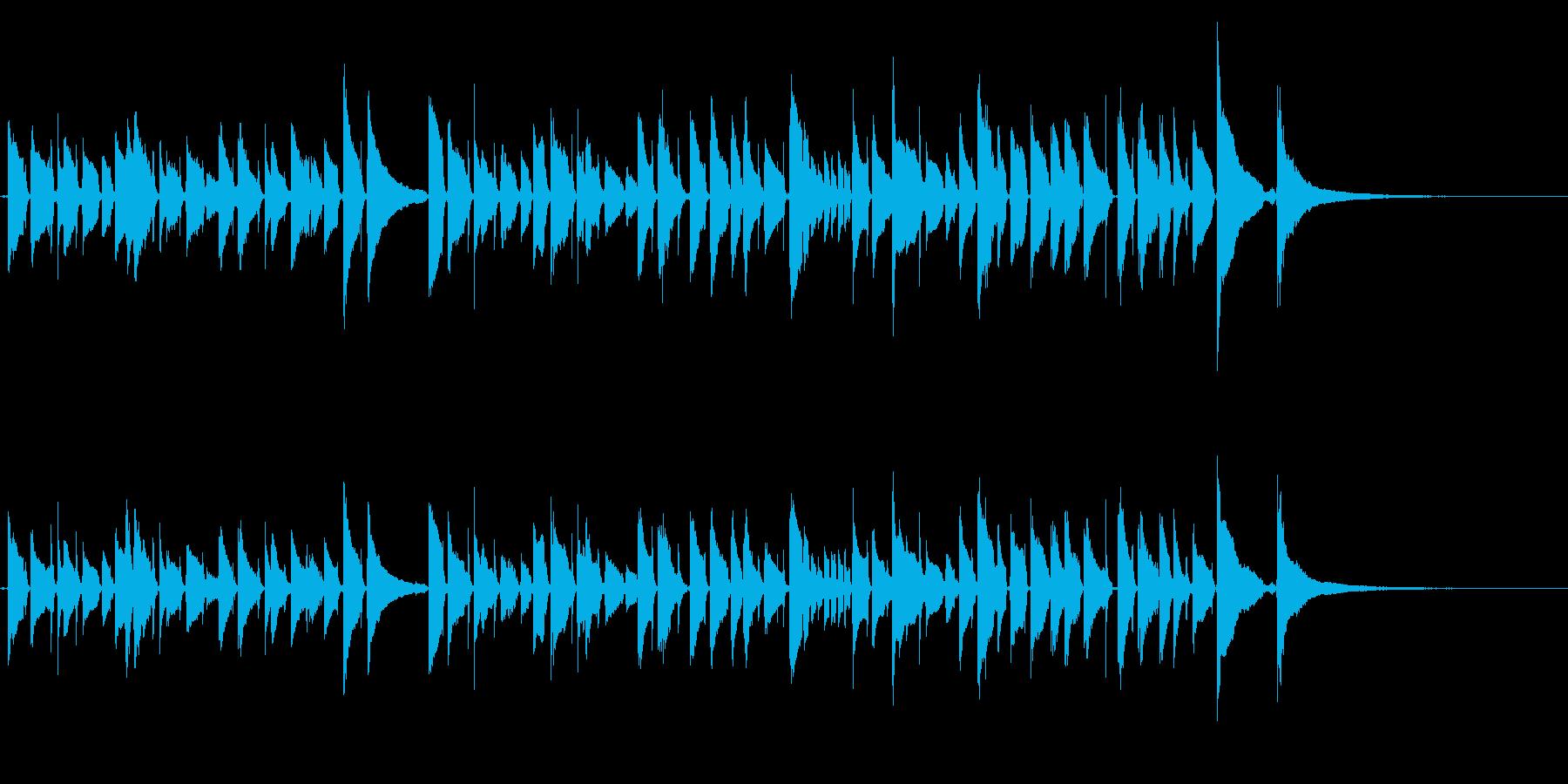 爽やかなアコギのみの曲1(生演奏)の再生済みの波形