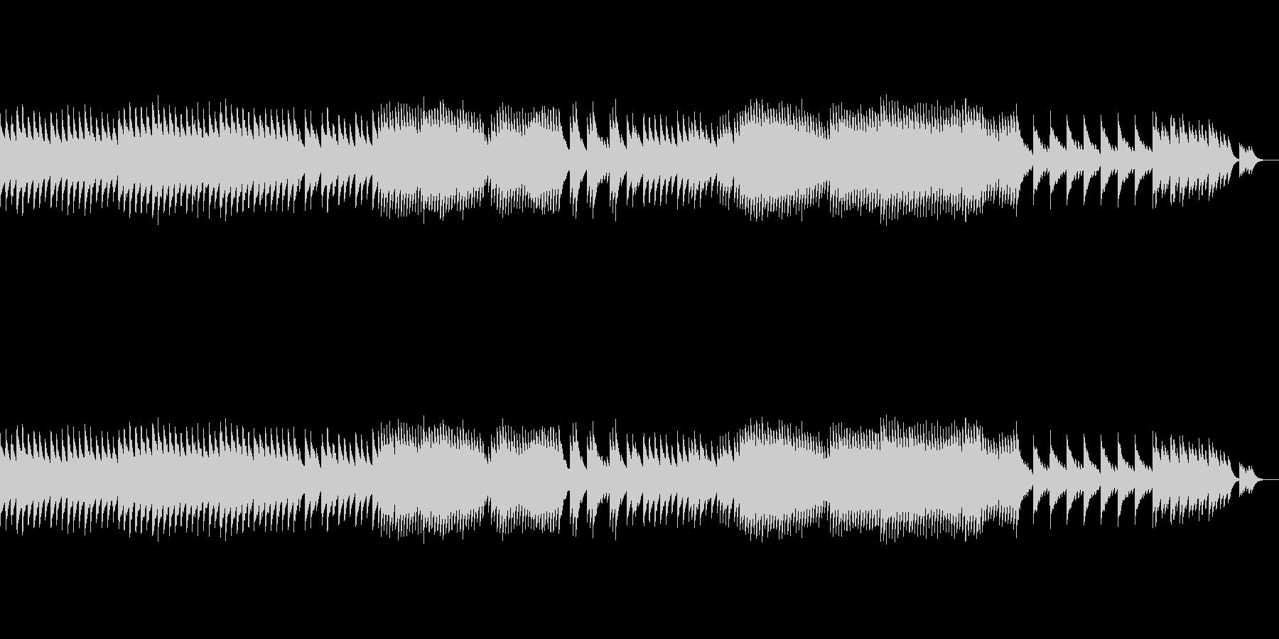 オルゴールの悲しい曲、エンディング風の未再生の波形