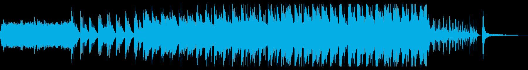 壮大で切ない和風曲の再生済みの波形