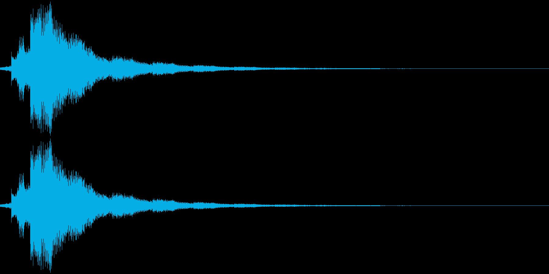場面切り替え(シンバル+チャイム)の再生済みの波形