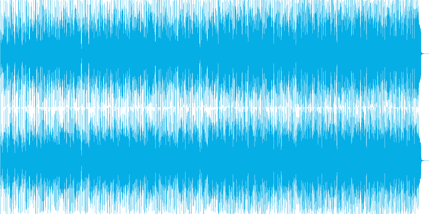 アコギメインの爽やかで軽快なフュージョンの再生済みの波形