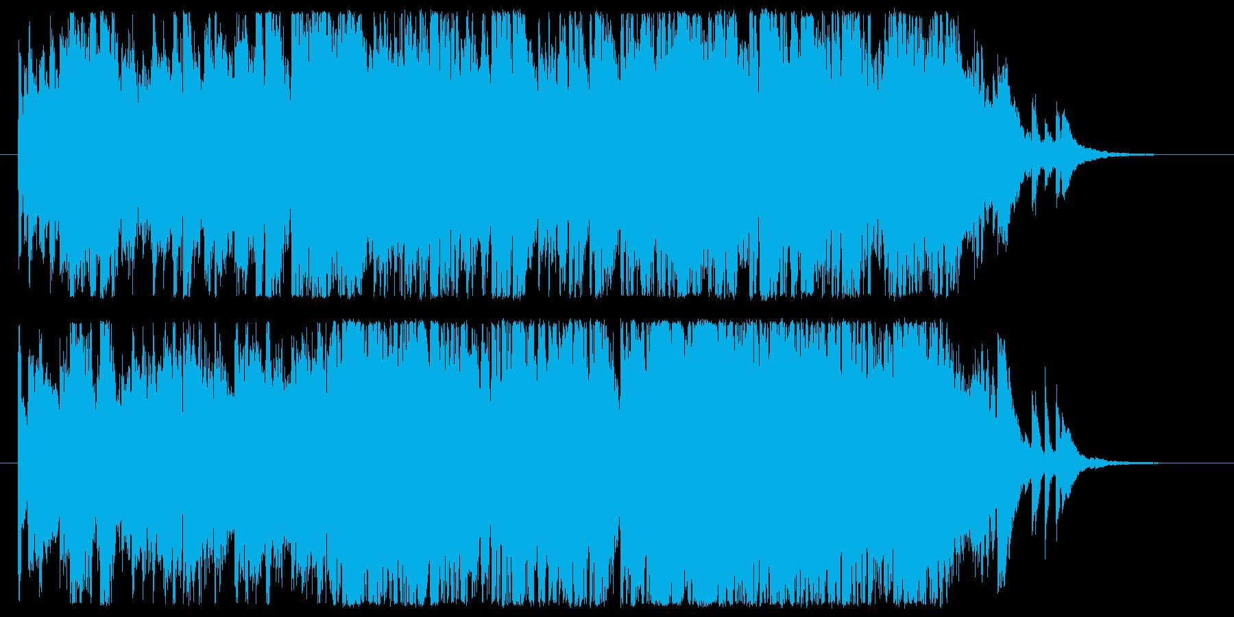 映画の追撃シーンを想像させるクラックの再生済みの波形