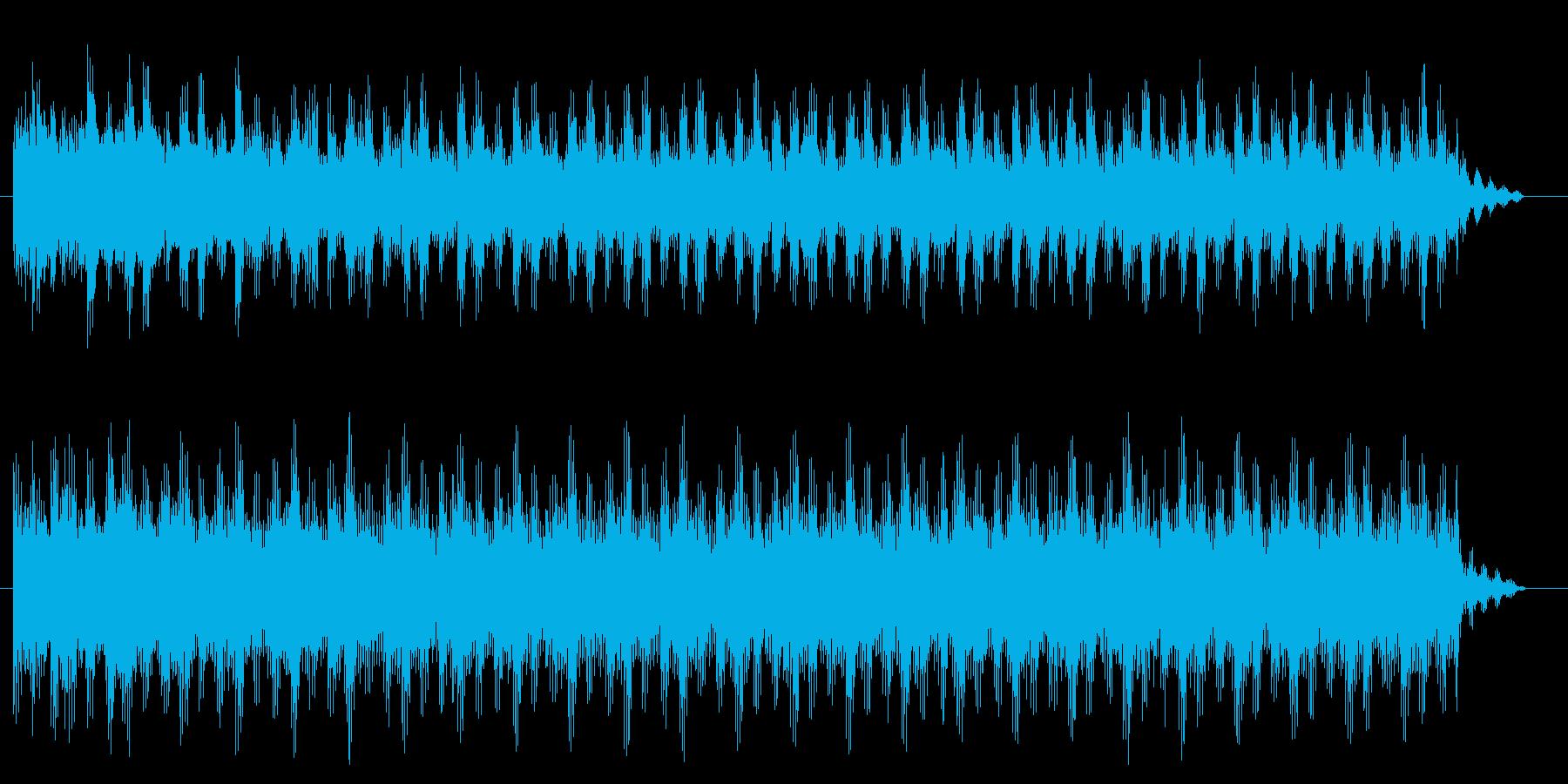 ニュース、トピック、情報番組っぽいBGMの再生済みの波形