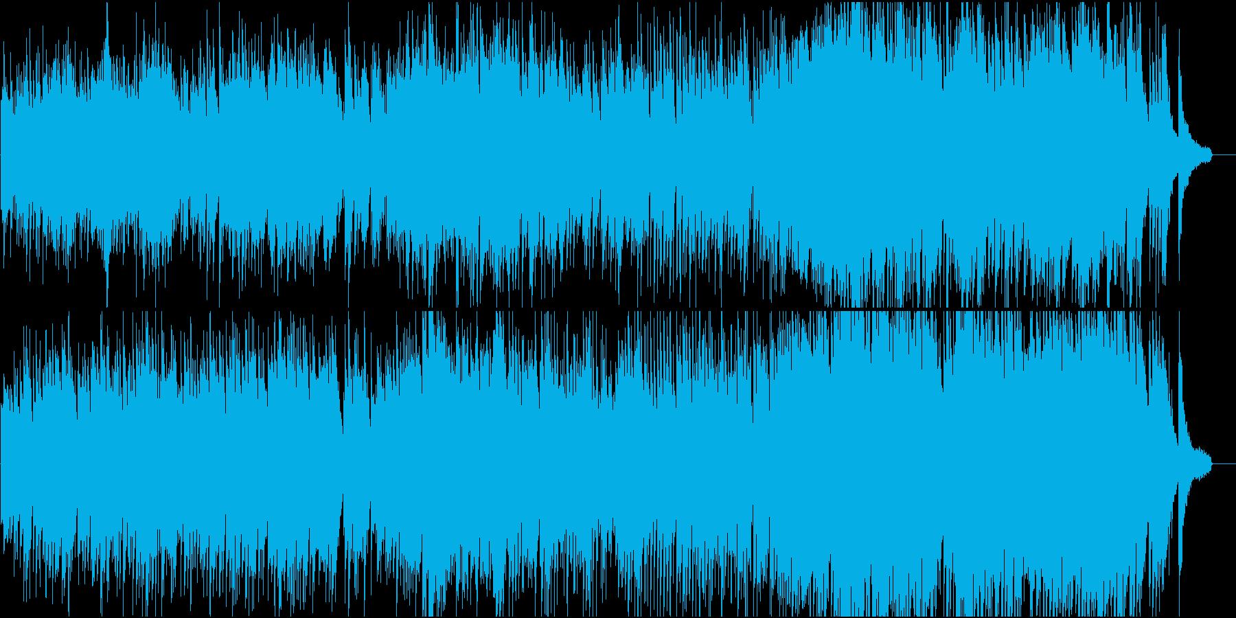 情熱的な現代音楽ピアノ楽曲、不協和と協和の再生済みの波形