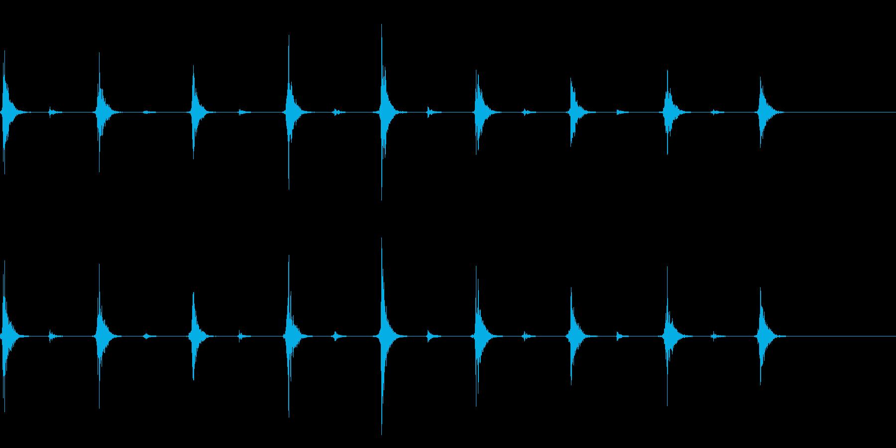 時計 秒針のリアルな効果音 01の再生済みの波形