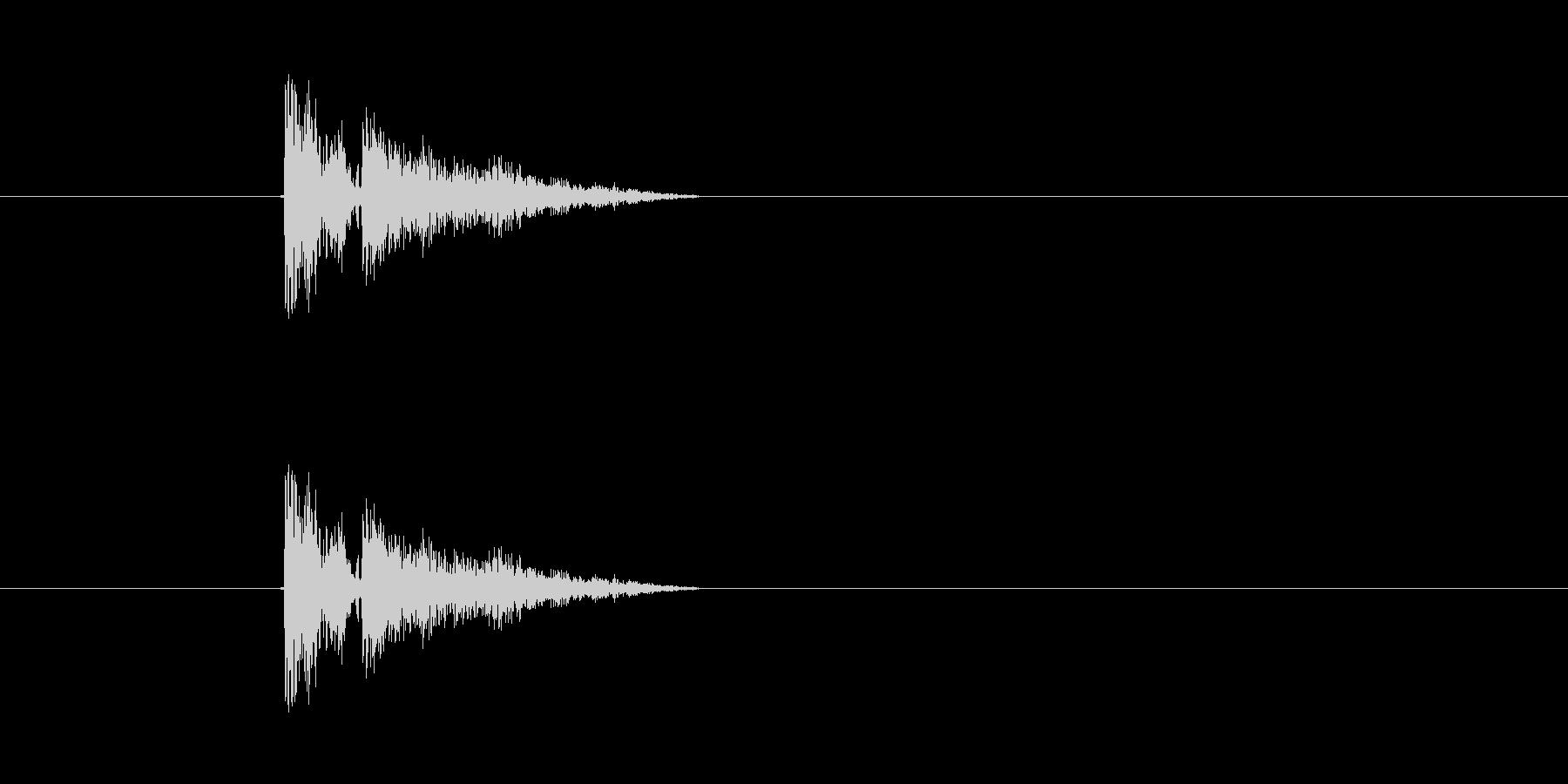 銃声(銃弾、ピストルの発砲音)の未再生の波形