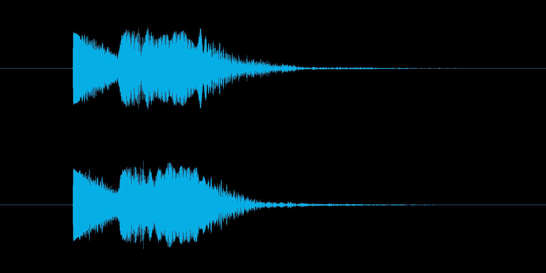 ぷよよん、ぽよん、というイメージの音の再生済みの波形