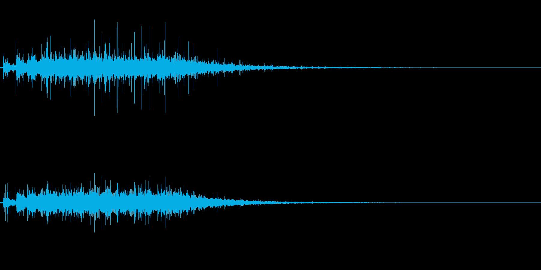 拍手の効果音(パチパチ)の再生済みの波形
