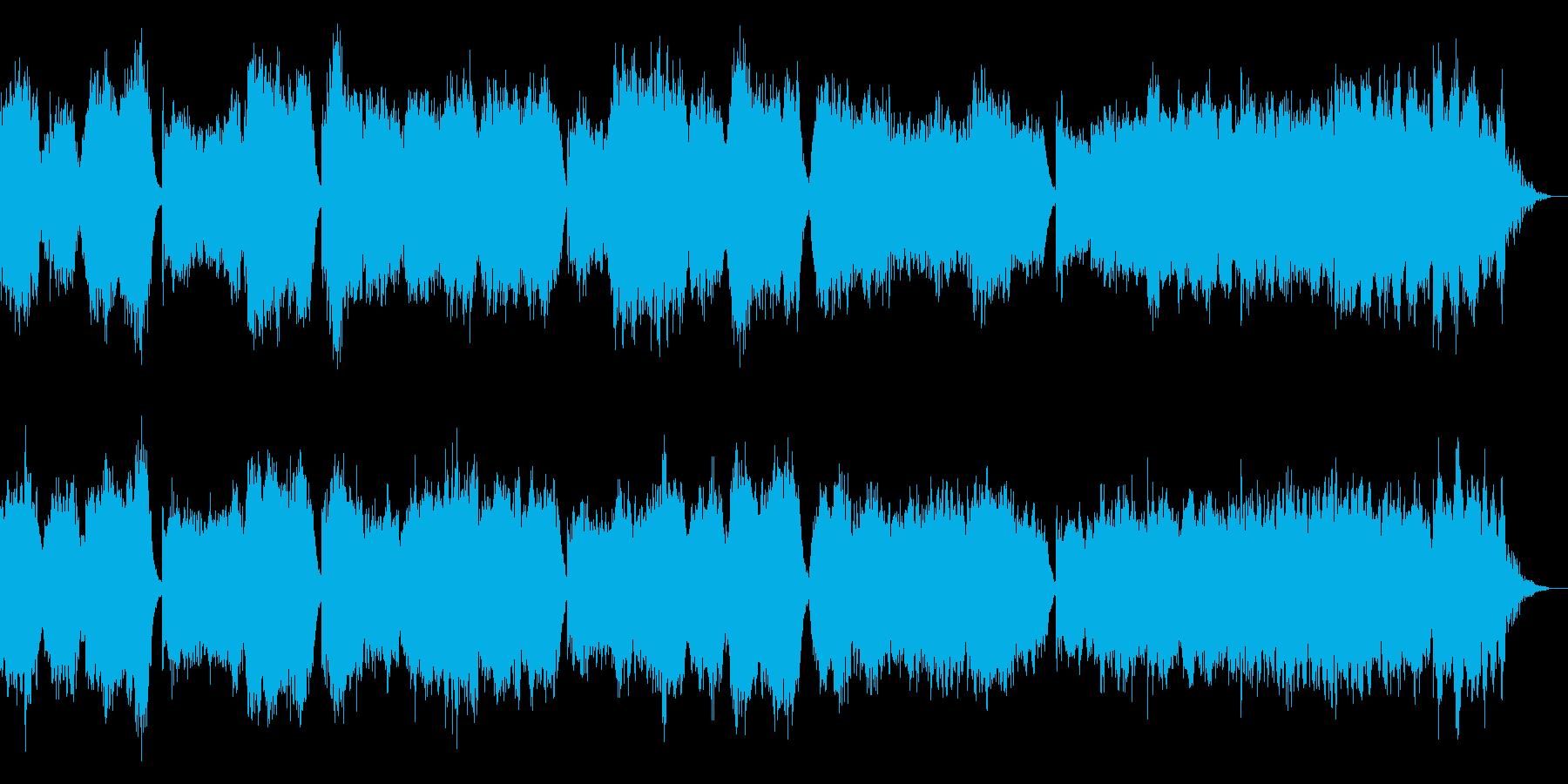 ストリングスの不安を煽る曲の再生済みの波形