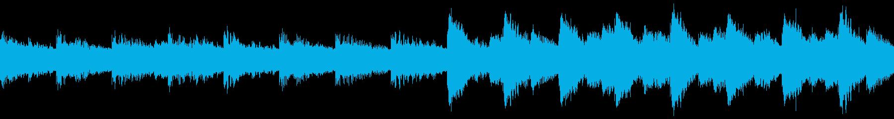 ゲームオーバー時のチップチューンの再生済みの波形