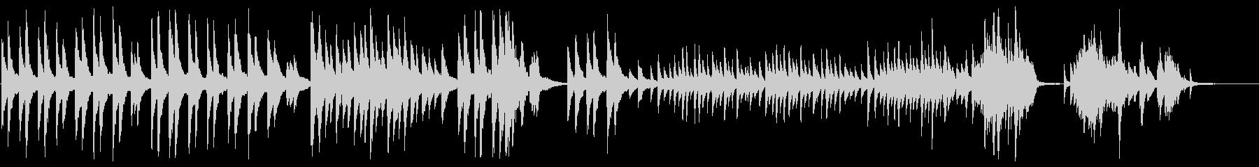 「仰げば尊し」のピアノカバーBGMの未再生の波形